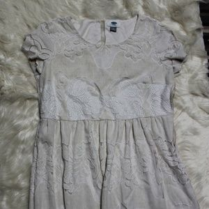 Old Navy Cream Lace Dress